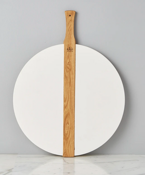 White Round Italian Pizza Board