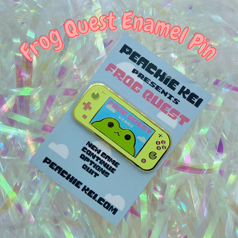 Frog Quest Enamel Pin