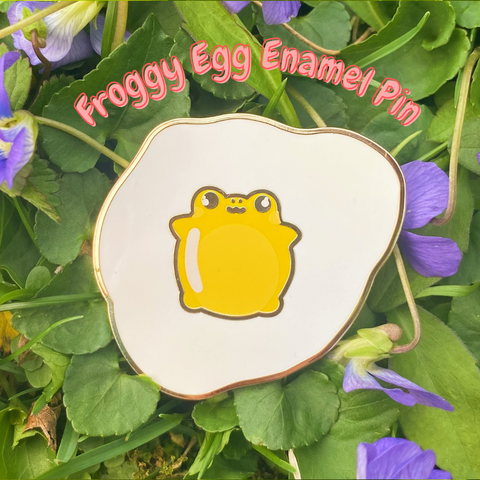 Froggy Egg Enamel Pin