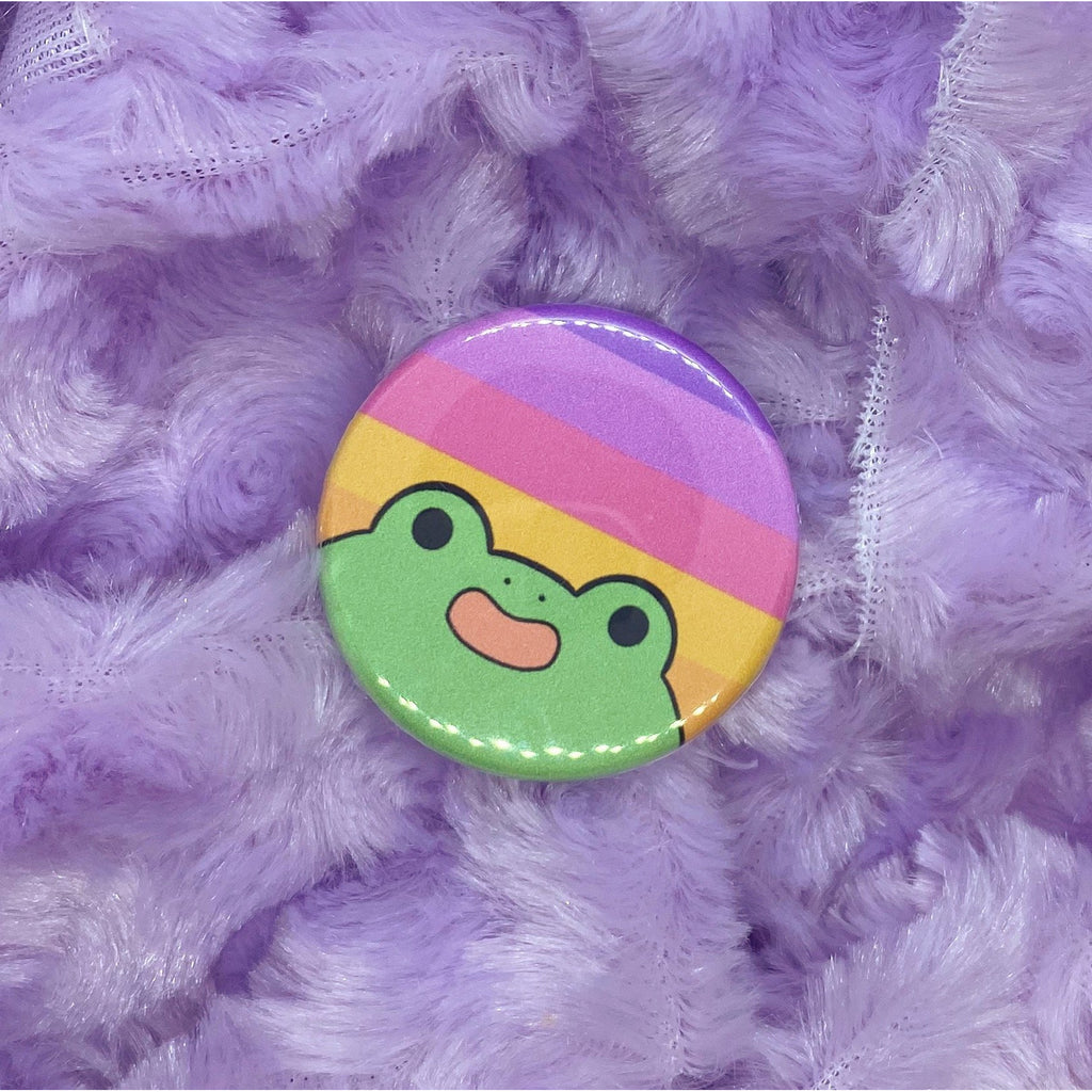 Trixic Pride Frog Button