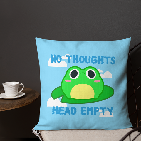 No Thoughts Head Empty Throw Pillow