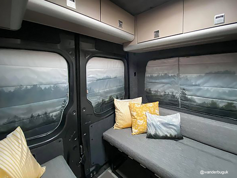 Wanderbug's Handmade Magnetic, Insulated, Thermal, Black out campervan window cover blinds