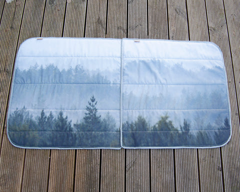 Ducato Relay Boxer Ram Promaster Side Door Window Blind Mat Cover Set - Misty Forest