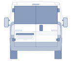 Ducato Relay Boxer Ram Promaster Rear Barn Door Window Blind Mat Cover Set - Tweed Cream - WanderbugUK