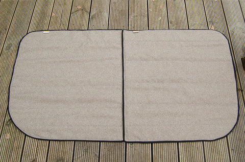 Sprinter & Crafter 2006-2017 Side Door Window Blind Cover Set - Tweed Cream - WanderbugUK