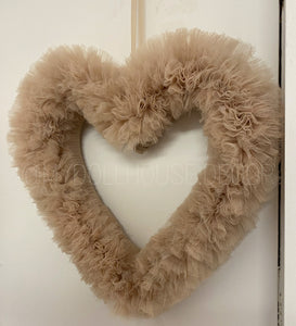 Caramel Tutu Heart Wreath 4-6 WEEKS