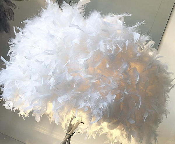 Feather Tripod Floor Lamp/Lamp Shade 2-4 WEEKS