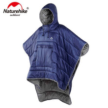Load image into Gallery viewer, Naturehike Portable Water-resistant Camping Sleeping bag Cloak Style Lazy Sleeping Bag Winter Poncho NH18D010-P