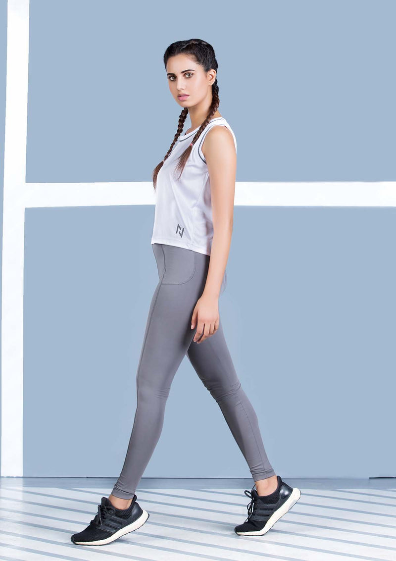HIGH WAISTED LEGGINGS - GRAPHITE