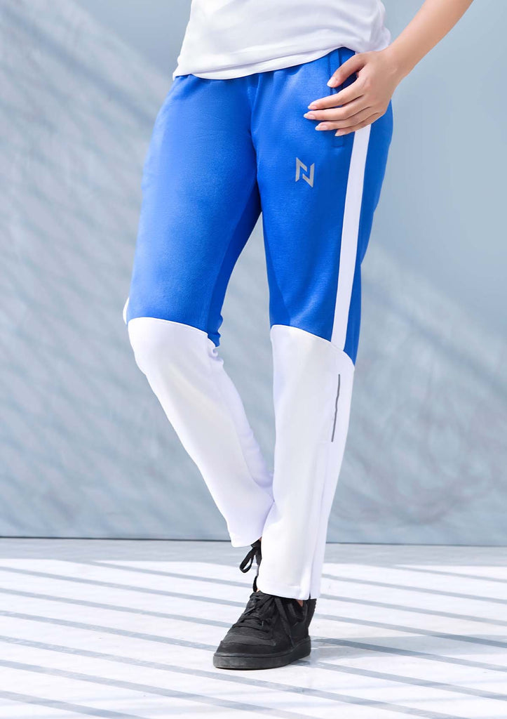 TRAINING TROUSERS - BLUE AND WHITE