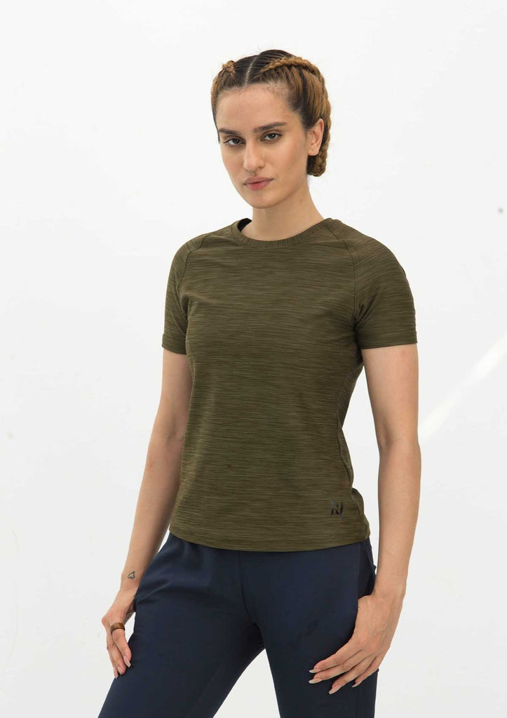 DRY FIT SHORT SLEEVES CREW - OLIVE