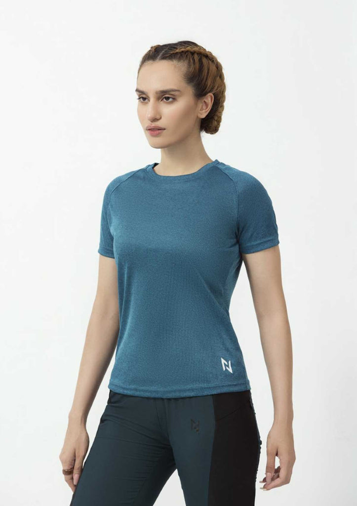 DRY FIT SHORT SLEEVES CREW - SEA GREEN