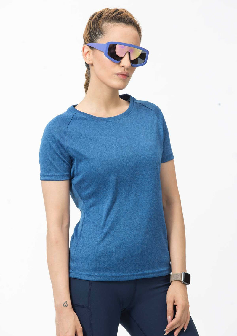DRY FIT SHORT SLEEVES CREW-BLUE