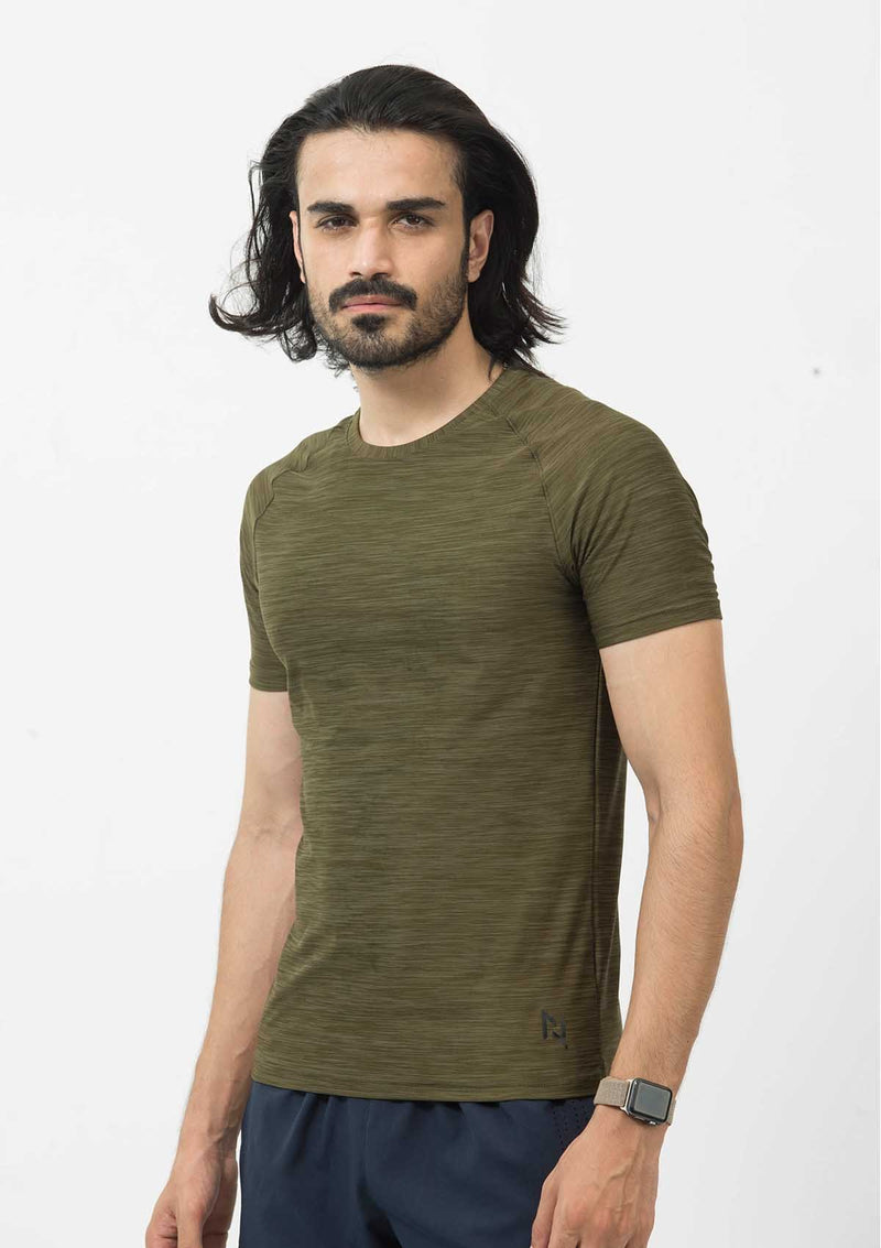 DRY FIT SHORT SLEEVES CREW-OLIVE