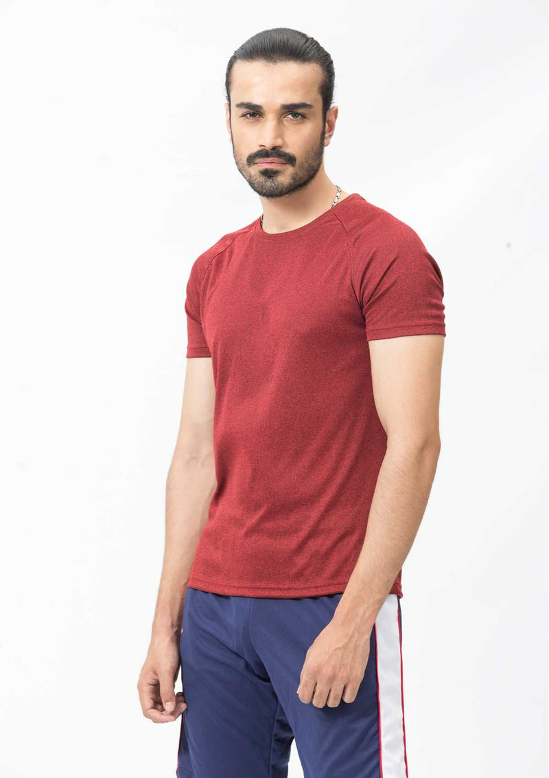DRY FIT SHORT SLEEVES CREW-RED