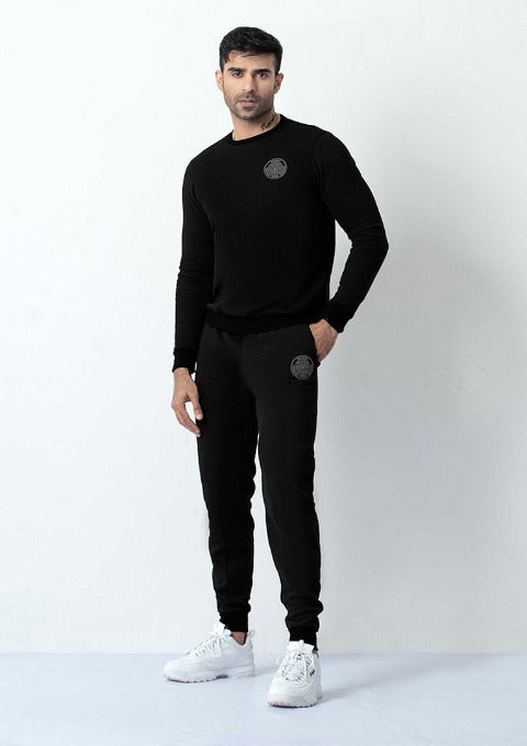 BLACK WATER REPELLENT SWEATSHIRT