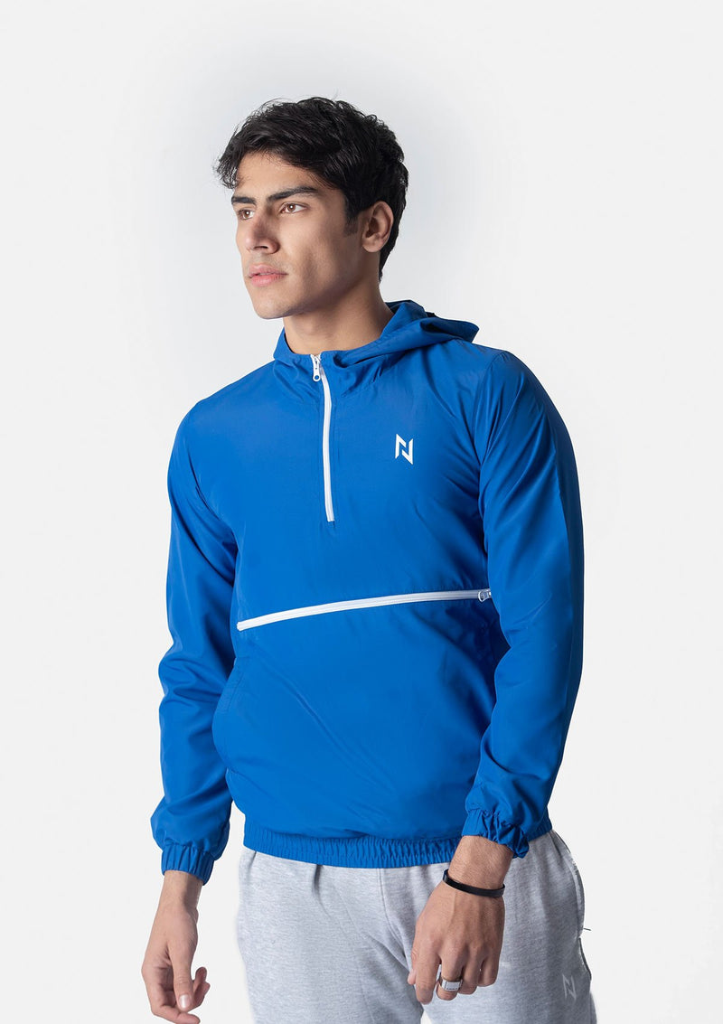 SUPERSOFT WINDRUNNER WITH FRONT POCKET - BLUE