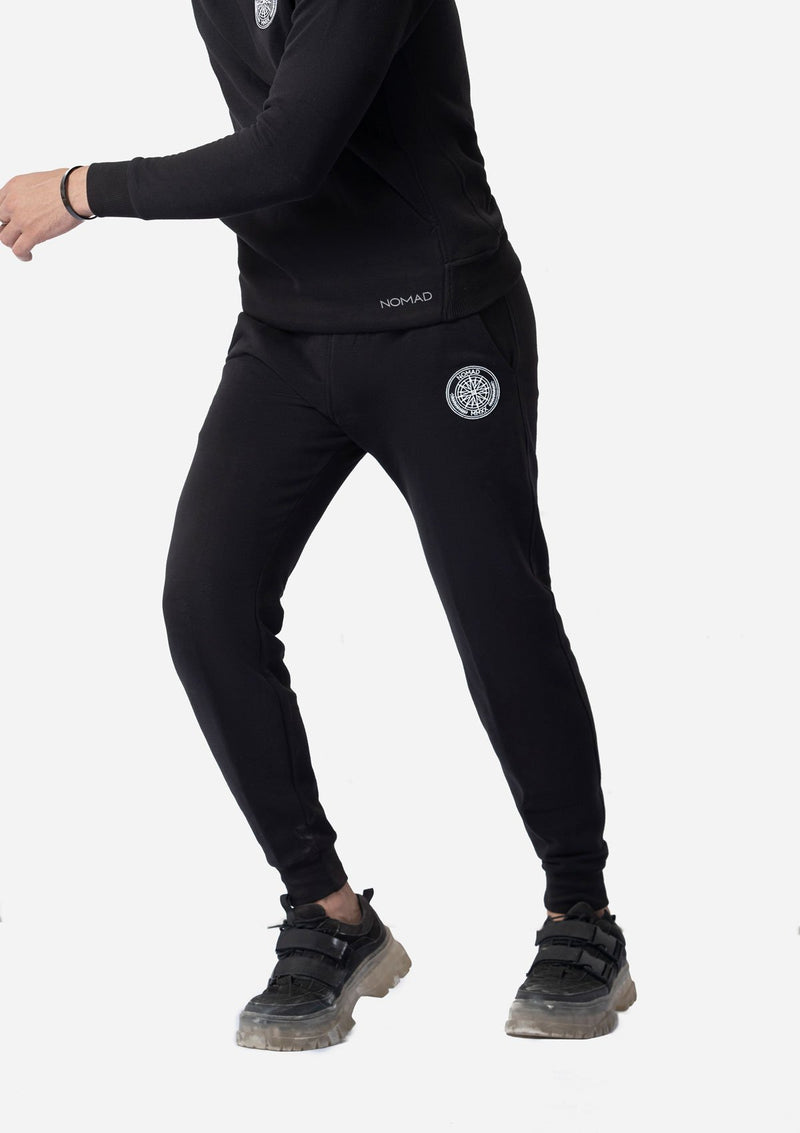 BLACK WATER REPELLENT TROUSERS