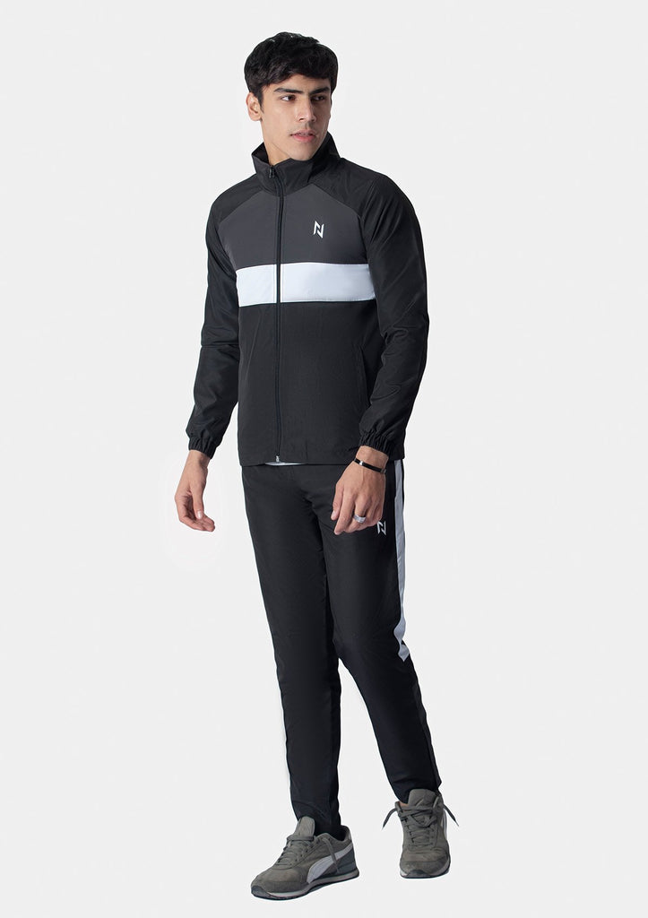BLACK SUPERSOFT TRACKSUIT JACKET