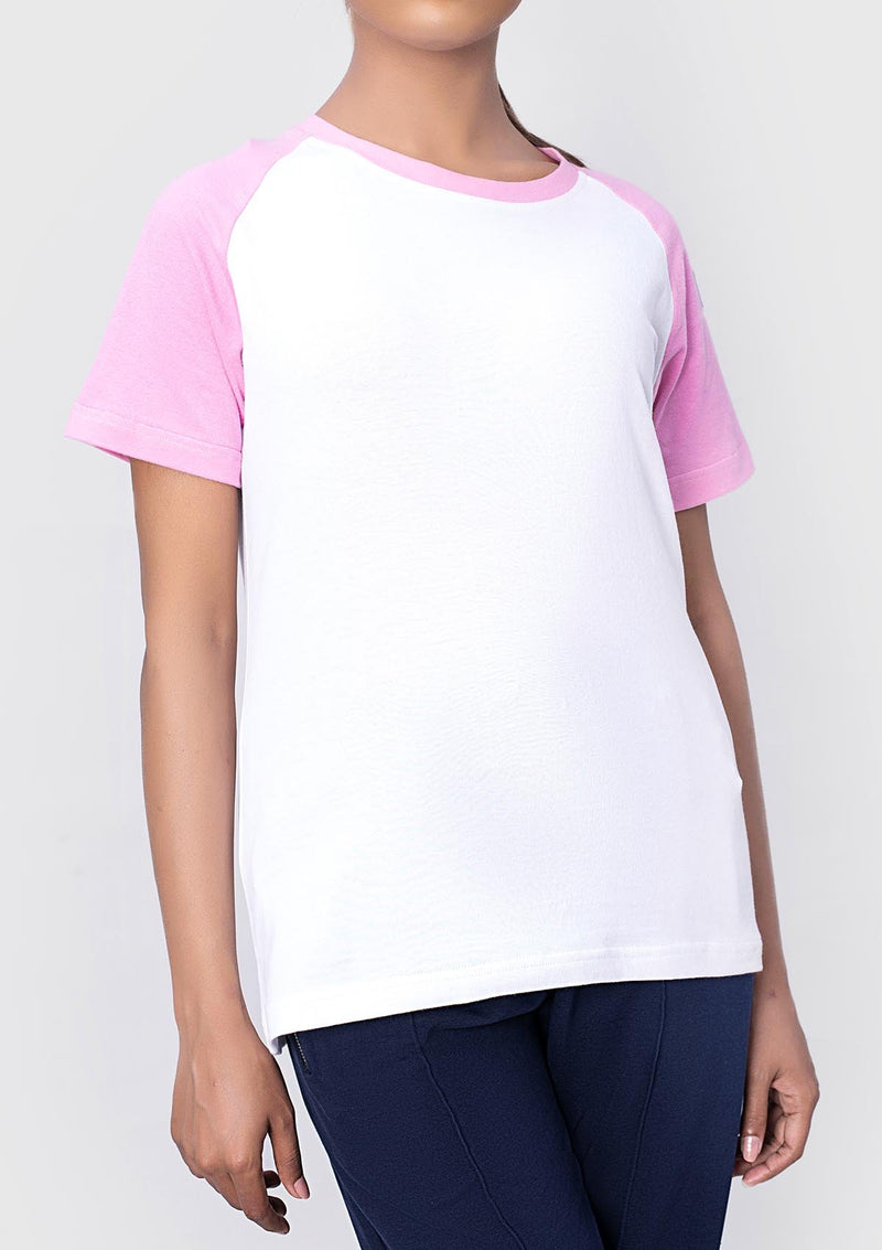 SUEDED COTTON T-SHIRT