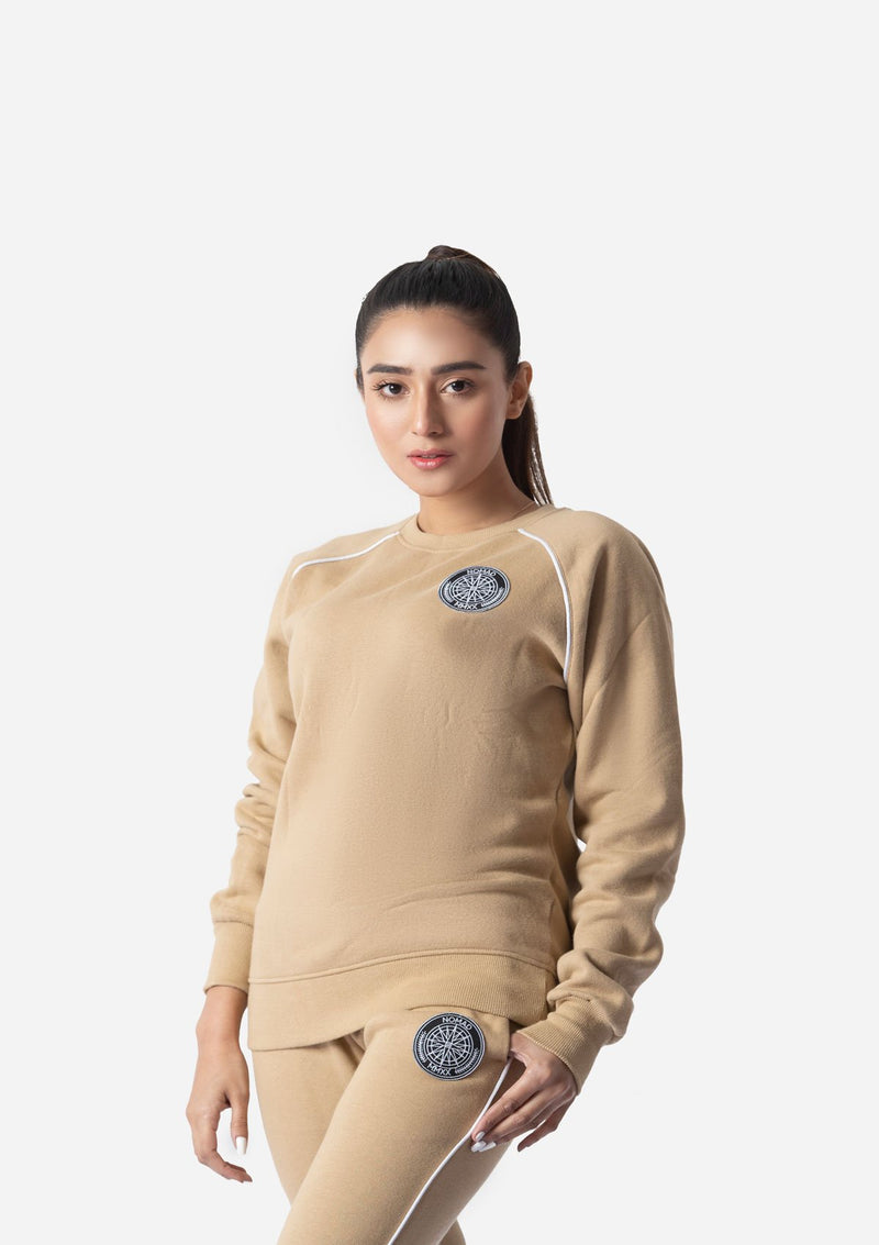 BEIGE WATER REPELLENT SWEATSHIRT