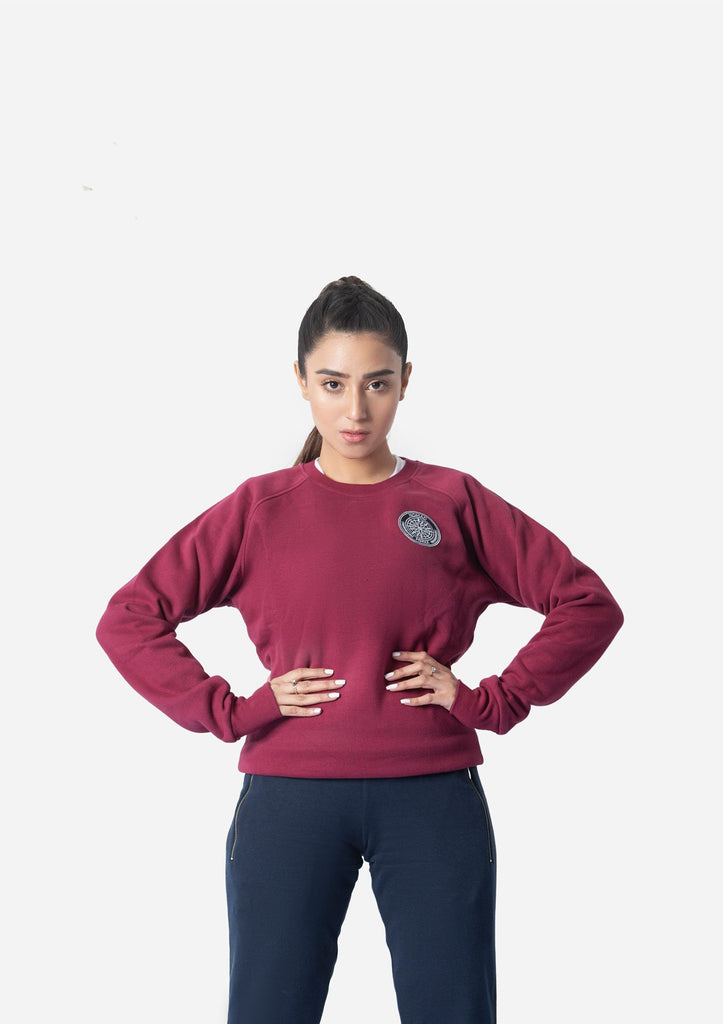 MAROON WATER REPELLENT SWEATSHIRT