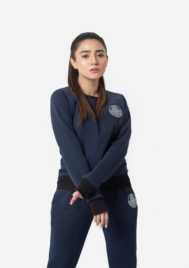 NAVY WATER REPELLENT SWEATSHIRT