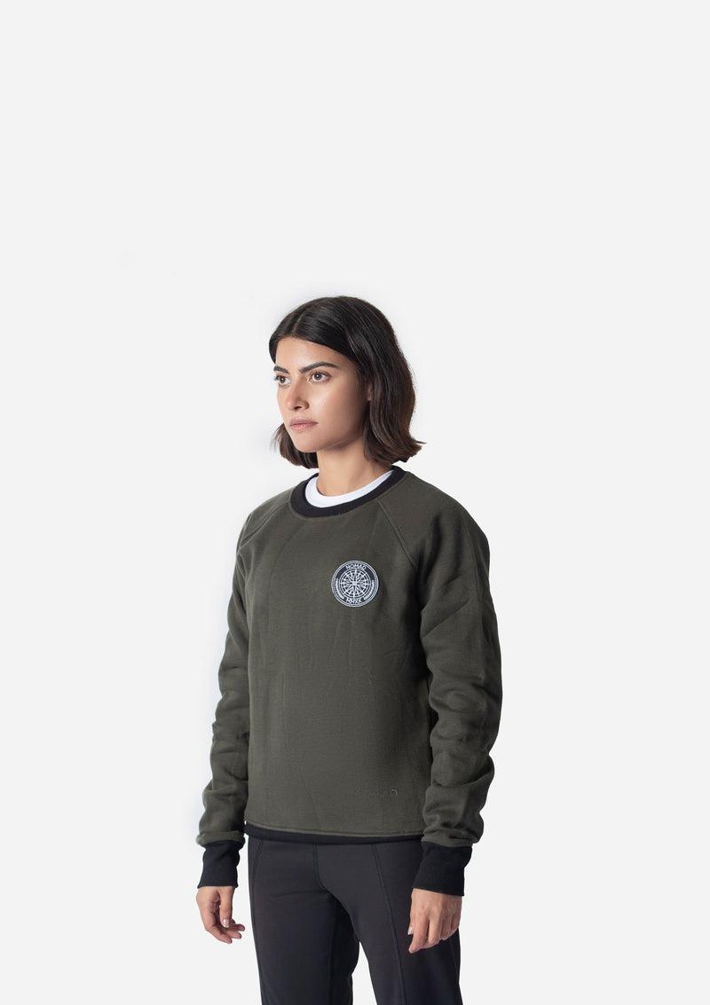 OLIVE WATER REPELLENT SWEATSHIRT