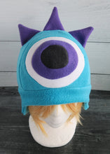 Load image into Gallery viewer, Three Horned Monster Hat - One Eye Monster Horns Fleece Hat