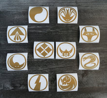Load image into Gallery viewer, Ronin Warriors/Samurai Troopers Individual Armor Decal/Sticker