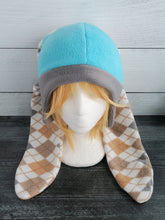 Load image into Gallery viewer, Argyle Bunny Fleece Hats