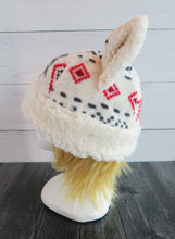 Load image into Gallery viewer, Aspen Christmas Cat Fleece Hat - Sherpa Hat