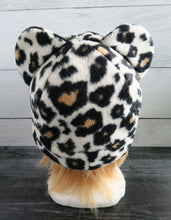 Load image into Gallery viewer, Cheetah Fleece Hat - Sherpa Hat