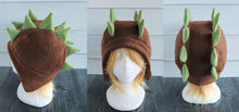 Load image into Gallery viewer, Stegosaurus Dinosaur Hat, Dino Double Spike Fleece Hat