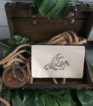 Load image into Gallery viewer, Vintage Map Fish Canvas Bag