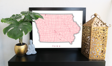 Load image into Gallery viewer, Iowa State Map Print