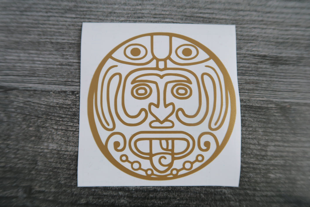 Mayan Calendar Face - Decal/Vinyl Sticker