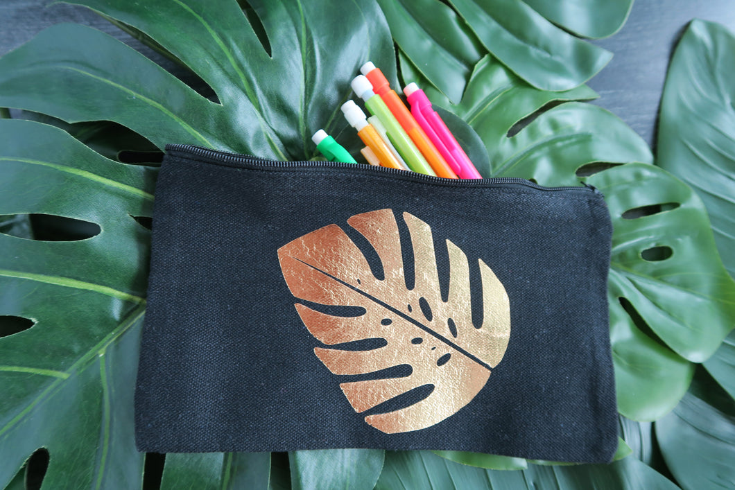 Monstera Tropical Canvas Bag