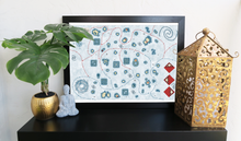 Load image into Gallery viewer, Windwaker Ocean Currents Map Print