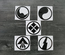 Load image into Gallery viewer, Ronin Armor SET of 5 Decals/Stickers