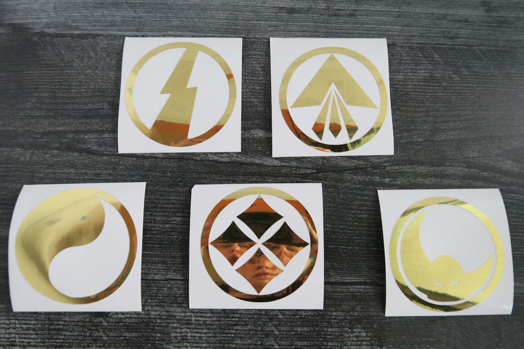 Ronin Armor SET of 5 Decals/Stickers