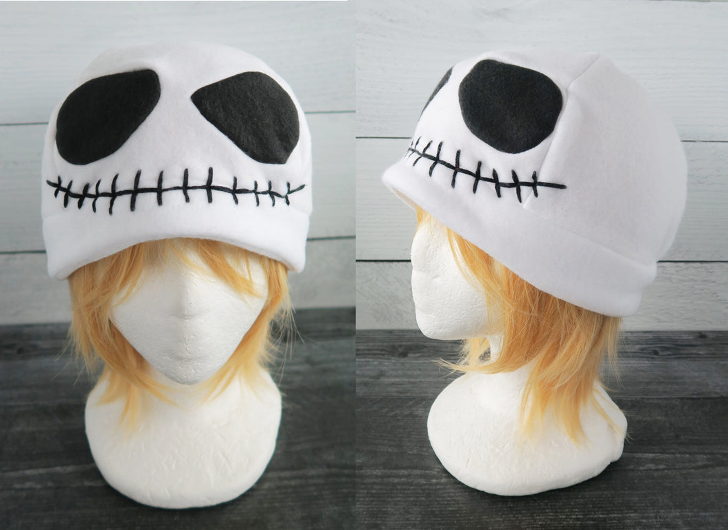 Smiling Skull Fleece Hat