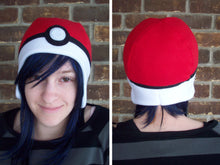 Load image into Gallery viewer, Pokeball Pokemon Fleece Hat