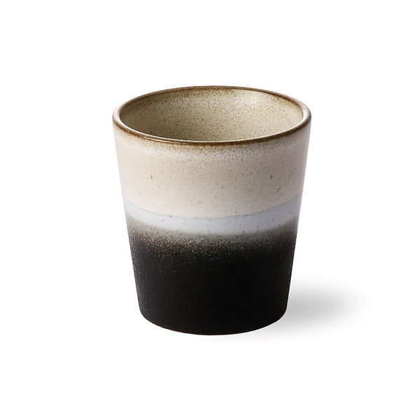 "Brown & Grey 70s Style ""Rock"" Handleless Cup"