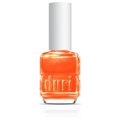 105 That Summer Feeling by duri cosmetics. Orange nail polish with a shimmer. long lasting. made in USA.