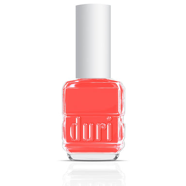 152 Venom by duri cosmetics. Neon pink orange nail polish. Super bright, glow in the dark .