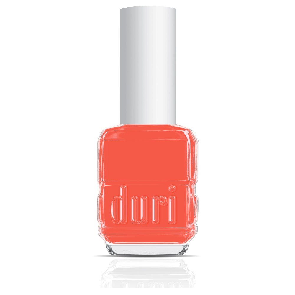 154N Bewitched by duri cosmetics. Bright orange nail polish shade.