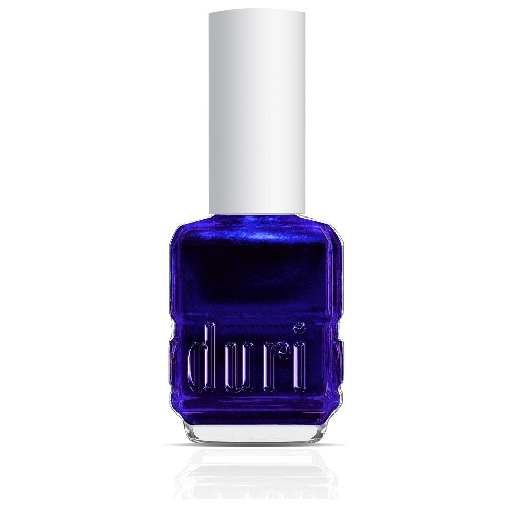 174 Fire Sapphire by duri cosmetics. Metallic dark blue nail polish.