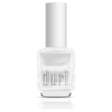 218 I Do by duri cosmetics. White metallic nail polish. Sparkly white nail polish.