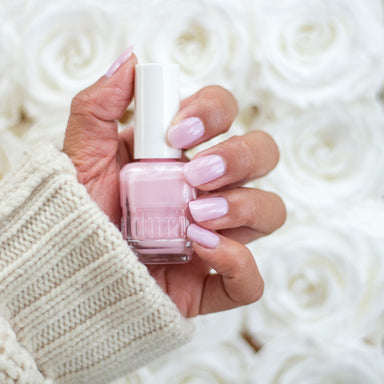 309 Iced Roses by duri cosmetics. Light pink semi-sheer coverage. perfect french manicure shade. Girly girl nails. Classic light pink manicure. Best selling pink nail polish color.